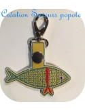 machine embroidery design  cicada mylar keychains ith