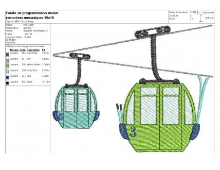 Instant download machine embroidery design Ski