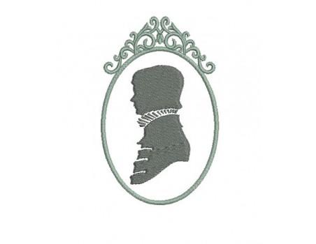 Motif de broderie Camée homme