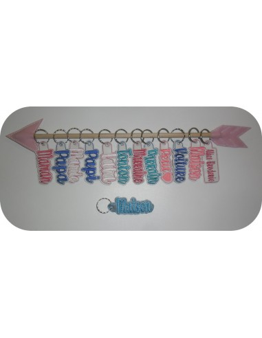 Instant download machine embroidery design macaroon mylar keychains ith