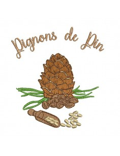 Instant download machine embroidery design Ardèche chestnuts