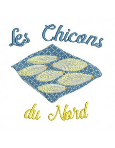 Instant download machine embroidery design  endives from the north