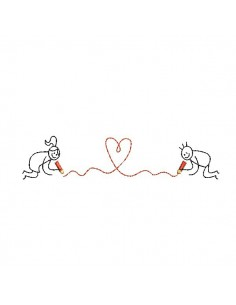 Instant download machine embroidery design in love the heart