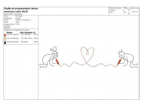 Instant download machine embroidery design in love the kiss