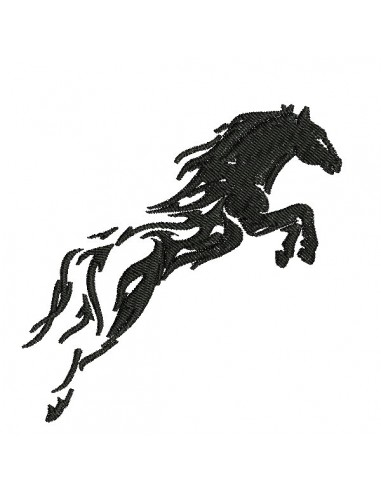 Instant download machine embroidery design Horse's head