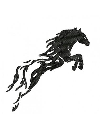 Motif de broderie machine  saut de cheval