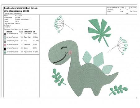 Instant download machine embroidery design pterosaurus dinosaur