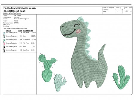 Instant download machine embroidery design stegosaurus dinosaur