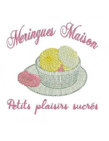 Instant download machine embroidery design  madeleine cake