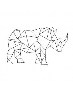 Instant download machine embroidery design geometric rhinoceros