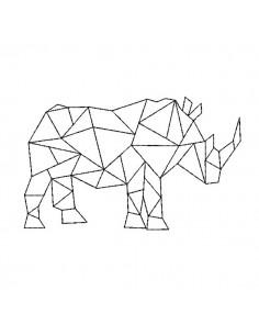 Motif de broderie machine rhinocéros origami