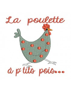 Instant download machine embroidery  kitchen board chicken