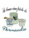 Instant download machine embroidery  design milk