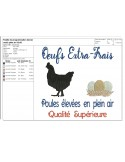Instant download machine embroidery Hen applique
