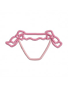 Instant download machine embroidery design  applique child bikini