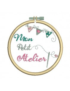 Instant download machine embroidery design sewing workshop