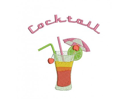 Motif de broderie cocktail