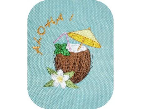 Motif de broderie noix de coco