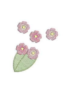 Motif de broderie machine petites   fleurs