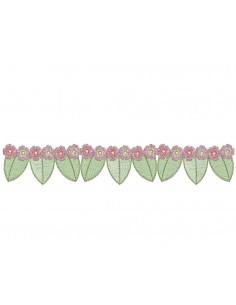 Motif de broderie machine frise de fleurs