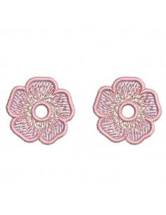 Motif de broderie machine petites  fleurs charms ou oeillets