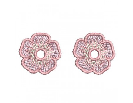 Instant download machine  embroidery design little flowers
