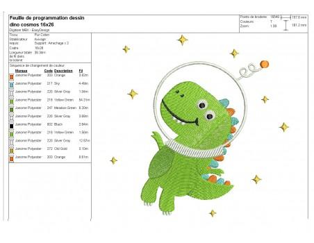 Instant download machine embroidery design T-Rex dinosaur with bike