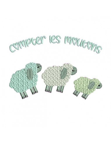 Instant download machine embroidery design sheep jump sheep