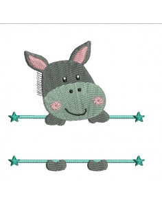 embroidery design little donkey