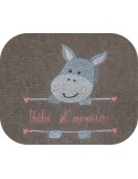 instant download machine embroidery design customizable donkey boy