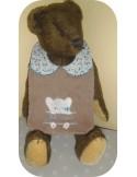 Instant downloads machine embroidery design machine  ITH  bib customizable hippopotamus boy