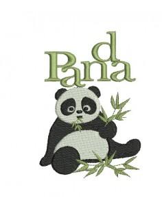 Motif de broderie panda
