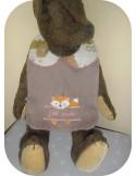 Instant downloads machine embroidery design machine  ITH  bib customizable hippopotamus girl