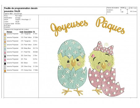 Instant download machine embroidery easter girl chick  to customize