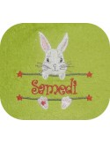 Instant download machine embroidery easter chick  to customize
