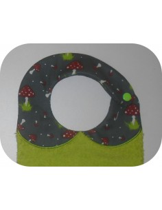 Instant downloads machine embroidery design machine  ITH  bib customizable rabbit boy