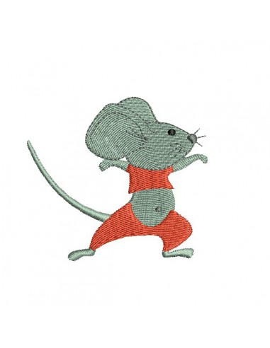 Instant download machine embroidery  teddy little mouse