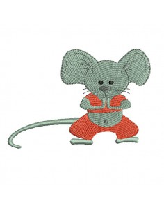 Instant download machine embroidery  mouse yoga N2