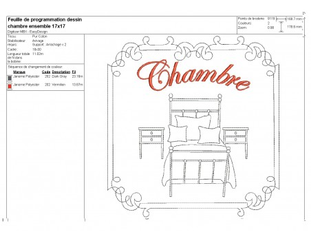 Instant download machine embroidery design canopy bed