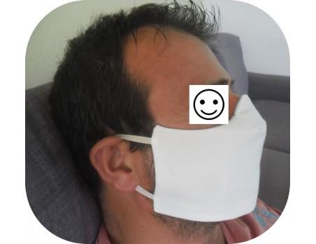Motif de broderie machine  masque de protection femme ITH