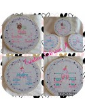 instant download machine embroidery design customizable birth journal snaill girl