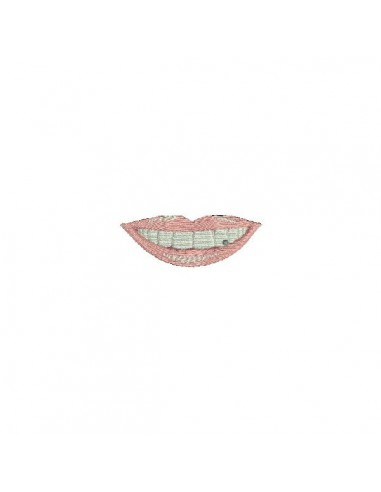 Instant download machine embroidery design teeth for  protection's mask men