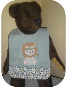 Instant downloads machine embroidery design machine  ITH  bib lion