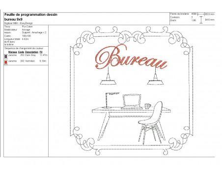 Instant download machine embroidery design kitchen