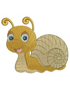 Motif de broderie machine escargot