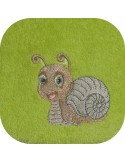 instant download machine embroidery design customizable snail boy