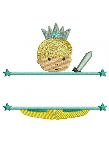 Instant download machine embroidery Princess to customize for girl