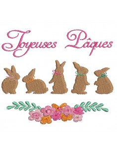 Instant download machine embroidery easter rabbit