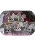 Instant download machine embroidery design rabbit  ith