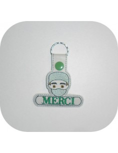 Instant download machine embroidery design doctor keychains ith